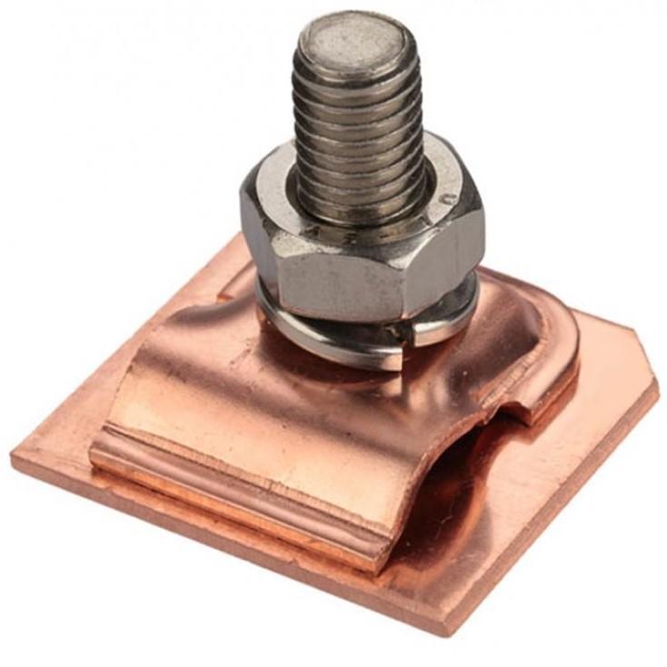 GALMAR GL-11549M — зажим на кромку листового металла для токоотвода (медь)