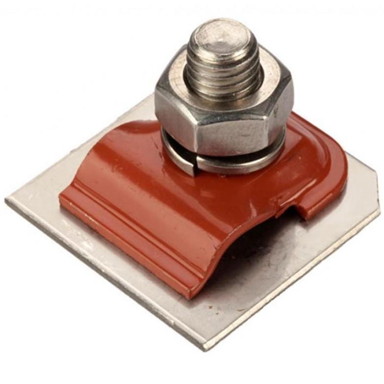 Зажим для соединения токоотводов, крашенная оцинкованная сталь
