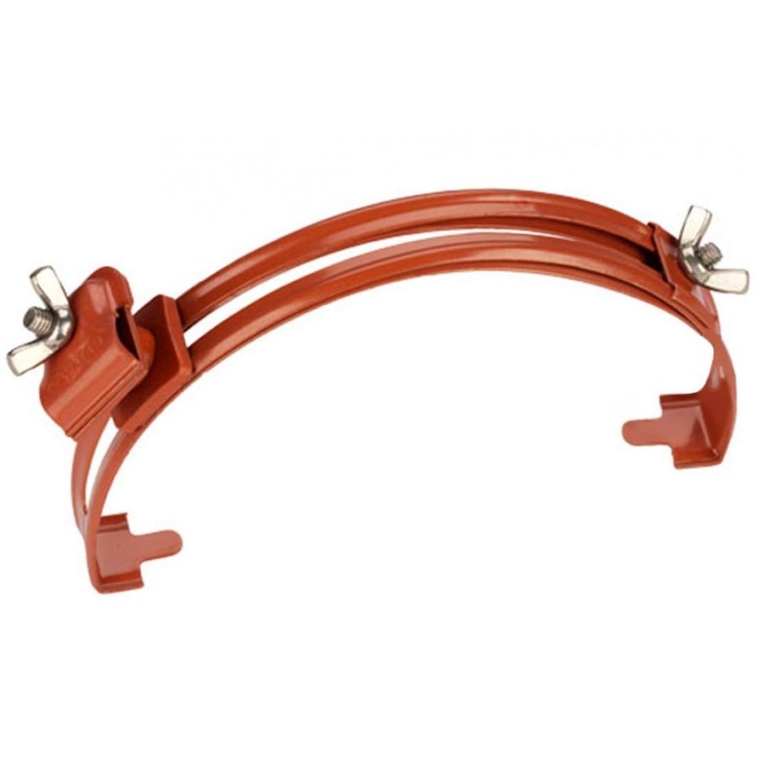 GALMAR GL-11564A — зажим на конёк для токоотвода с его возвышением над зажимом на 15 мм (крашенная оцинкованная сталь)