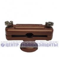 Держатель полосы Fl40 стеновой (высота держателя 23 мм, диаметр основание 24 мм), коричневый