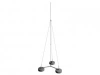 Молниеприемник-мачта (4 метра; на 3х бетонных основаниях; одноступенчатая тросовая поддержка; оцинкованная сталь)