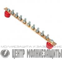 ГЗШ 9 подключений, 40х4 мм, медь