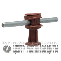 Держатель проводника 6-8 мм коричневый 36 мм, пластик