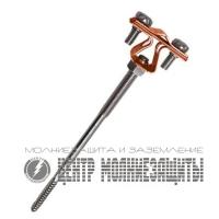 Держатель проводника 8-10 мм  для деревянного фасада, медь
