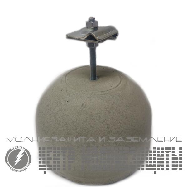 Держатель проводника 8-10 мм бетонный с оцинкованным держателем