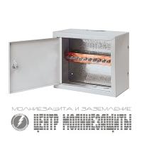 Шкаф с ГЗШ 10 подключений 350х295х155 мм
